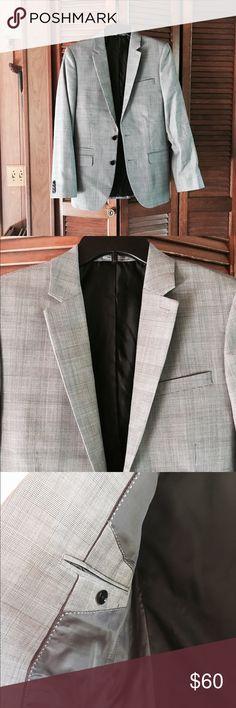🎉SALE🎉Express Fitted Blazer Express Photographer men's size 36R checked gray blazer. NWOT. Express Suits & Blazers Sport Coats & Blazers