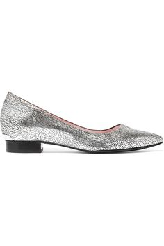 Dkny Woman Metallic Leather Ballet Flats Silver Size 9 DKNY rZ90EkixZ4
