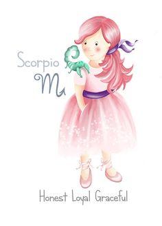 Scorpio girl ♥️ Baby Girl Blue Eyes, Baby Girl Wallpaper, Scorpio Girl, Nursery Artwork, Baby Girl Nursery Decor, Zodiac Art, Art Girl, Art For Kids, Illustration Art