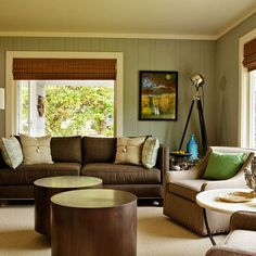 Green painted wood paneling