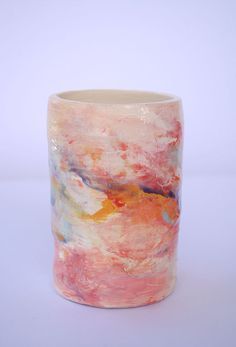 Pink ceramic pot by EstherGriffith on Etsy, $42.00