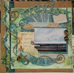 Having fun at the Beach Premade/Pre-Made Scrapbook Pages by Polly's Paper, via Flickr