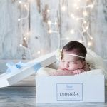 Caja personalizada con el nombre del bebé precio 16€
