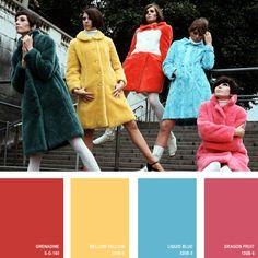 1966 | 16 Beautiful Color Palettes Inspired By Retro Fashion