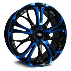HD® - SPINOUT Gloss Black with Blue Face (17 x 7 for Volt)