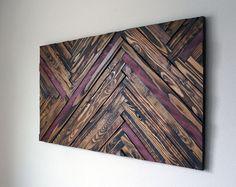 Purple Heart Wood Wall Art by RusticWarmthDecor on Etsy