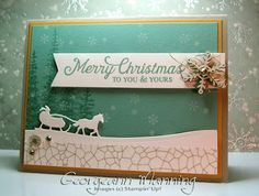 Wonderland, Six Sayings, Sleigh Ride Edgelits Dies, 2015 Stampin' Up Holiday Catalog, Stampin' Royalty Color Challenge, SR#303, Christmas