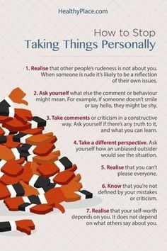How to stop taking things personally