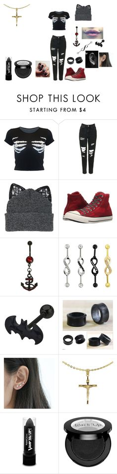 """Untitled #490"" by in-seva on Polyvore featuring Topshop, Silver Spoon Attire, Converse, Target, NOVICA, Attic and PaintGlow"