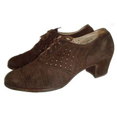 Church's CC41 utility marked 1940s brown suede lace-up shoes ($150) ❤ liked on Polyvore
