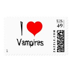 #I Love Vampire Postage - #Halloween happy halloween #festival #party #holiday