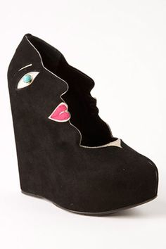 Elsa Schiaparelli  Who imagines putting a face on a shoe? Elsa Schiaparelli.