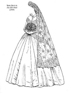 360 best bridal gown patterns images in 2019 gown pattern bridal Damask Wedding Gown bette davis the old maid 1939 hollywood costume gown pattern bette davis