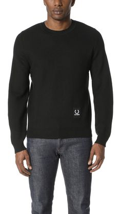 FRED PERRY Crew Neck Sweater. #fredperry #cloth #sweater
