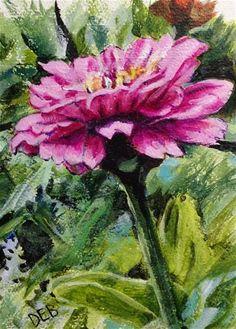 "Daily Paintworks - ""Renfrow Flower"" - Original Fine Art for Sale - © Debbie Yacenda"
