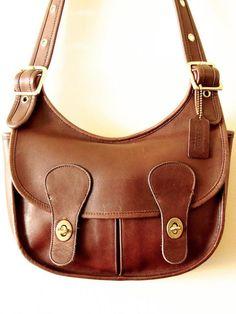 VTG COACH Pony Express Bag Messenger Mahogany Brown Leather Made in USA Rare HTF #BONNIECASHINforCOACH #TotesShoppers