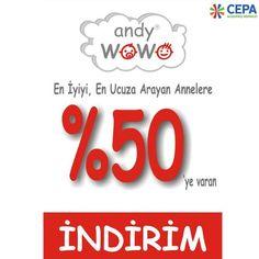 #Cepa #AndyWowo'dan en iyiyi, en ucuza arayan annelere %50 'ye varan indirimler!
