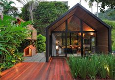 Tiny House Living, My House, Cabin In The Woods, A Frame House, Tiny House Design, Tropical Houses, Innovation Design, Future House, House Styles