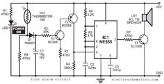 Simple Water Sensor #Circuit Diagram using IC 555