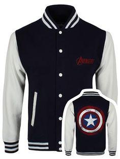 Unisex Avengers Shield inspired academy varsity hooded blue jacket with metallic silver motif. Amazing look! ipCKIND