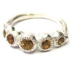 KATHERINE BOWMAN-AUSTRALIA citrine Trousseau ring. Stunning!