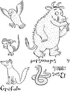 """""""The Gruffalo"""": una storia, tante attività. Gruffalo Activities, Book Activities, Preschool Activities, The Gruffalo, Gruffalo Party, Gruffalo Characters, Kindergarten Portfolio, Story Sack, Toddler Fun"""