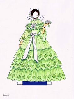 Southern Belle Ball Gowns Paper Dolls, Tom Tierney | Anna Kalinichenko - Picasa Web Albums