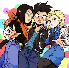 Shallot Android 17 and 18 Dragon Ball Z, Female Goku, Super Movie, Otaku, Ninja Art, Goku Super, My Hero Academia Manga, Chibi, Fan Art