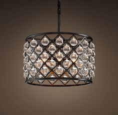 Spencer Chandelier Small from restoration hardware. Cost: Ridonkulous. But I am wondering...what if you DIY'd this with glass marbles? Like, shooter size? I kind of love.
