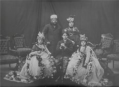 Vintage Nepal ~ Rare Old Pictures, Videos and Arts of Nepal Liked · 34 minutes ago  The then authoritarian Rana dynasty Prime Minister and de facto ruler of Nepal, Maharajah Bir Shamsher Jang Bahadur Rana (in office 1885-1901) with his wife Maharani Top Kumari Devi.  Sitting on the chairs are his two daughters married to King Prithvi Bir Bikram Shah (center), one of whom is the mother of King Tribhuvan. | Date Photographed: c. 1890 | Credit: Subodh Shumsher