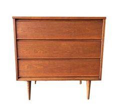 Mid-Century Refinished 3-Drawer Dresser on Chairish.com