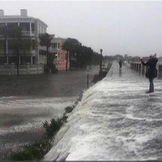 The East Battery Charleston SC Flooded