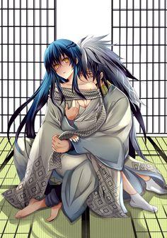 Rikuo Nura and yuki-onna from Nurarihyon no Mago / Nura: Rise of the Yokai Clan