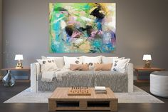 Large Abstract Painting,Modern abstract painting,huge canvas painting,palette knife canvas,original abstract FY0011