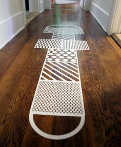 hop scotch floor decal --- cute idea for playroom or basement Floor Decal, Kid Spaces, Decoration, Home Accessories, Kids Room, Sweet Home, Indoor, House Design, Interior Design