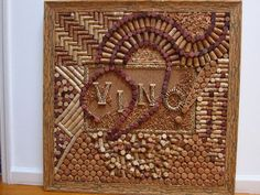 VINO. Wine cork board in a very rare cork frame by winecorkworks, $3399.00 Now, that is art!
