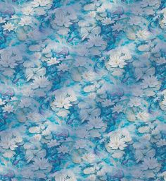 Osborne And Little Water Lily Sheer F7130-01 Fabric | Designer Fabrics 2017 | TM Interiors Limited  A romantic evocation of a decorative pond with water lilies and ornamental carp is presented as a wide-width sheer, housed in the current range of Matthew Williamson Belvoir Fabrics