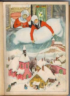 Vintage Christmas Card, looks like this is a page from a book.