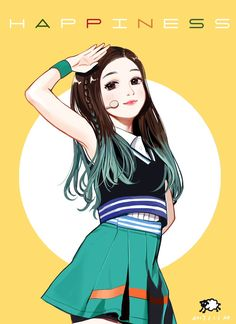 """Fan art of Park Soo-young (박수영) also known mononymously as Joy (조이) of Red Velvet (레드벨벳) from their debut music video, """"행복 (Happiness)""""."""