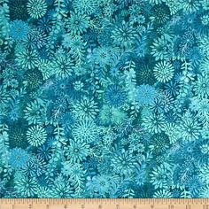 This fabric is perfect for quilting, apparel and home decor accents. Colors include shades of teal.