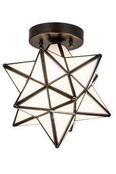 Ceiling Light Fixtures, Ceiling Lamp, Chandeliers, Moravian Star Light, Lighting Sale, Flush Mount Ceiling, One Light, Glass Shades, Bulb