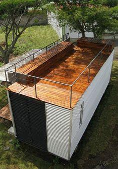 Casa Cubica. Крыша-терраса.