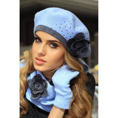 Wełniany #beret #damski #Kamea Daniela