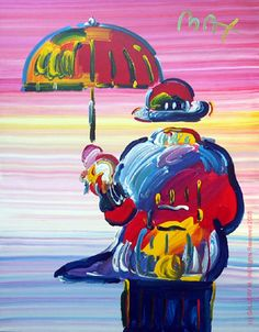 """Umbrella Man"" by Peter Max"