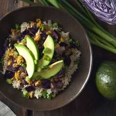 Chickpea Scramble and Red Cabbage Brown Rice Bowls. Easy, healthy, and so satisfying. {vegan