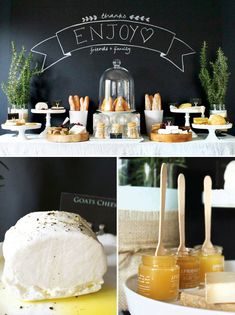 Chic & Rustic Cheese Tasting Table