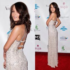 Kelli Berglund was looking stunning in our beaded gown on the red carpet! ✨ #camillelavie #CLVprom