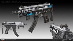 ArtStation - Some Black Ops 4 work, ECHO LIMA Sci Fi Weapons, Concept Weapons, Armor Concept, Weapons Guns, Concept Art, Submachine Gun, Black Ops 4, Arsenal, Firearms