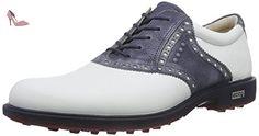Ecco  ECCO MENS TOUR GOLF HYBRID, Chaussures de Golf homme - Multicolore - Mehrfarbig (WHITE/MARINE59385), 42 - Chaussures ecco (*Partner-Link)