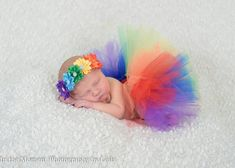 Rainbow tutu - rainbow baby tutu - rainbow headband - infant loss - rainbow hair band - photo props Rainbow Headband, Rainbow Tutu, Rainbow Baby, Shabby Chic Headbands, Baby Flower Headbands, Newborn Headbands, Cute Baby Pictures, Newborn Pictures, Newborn Shoot